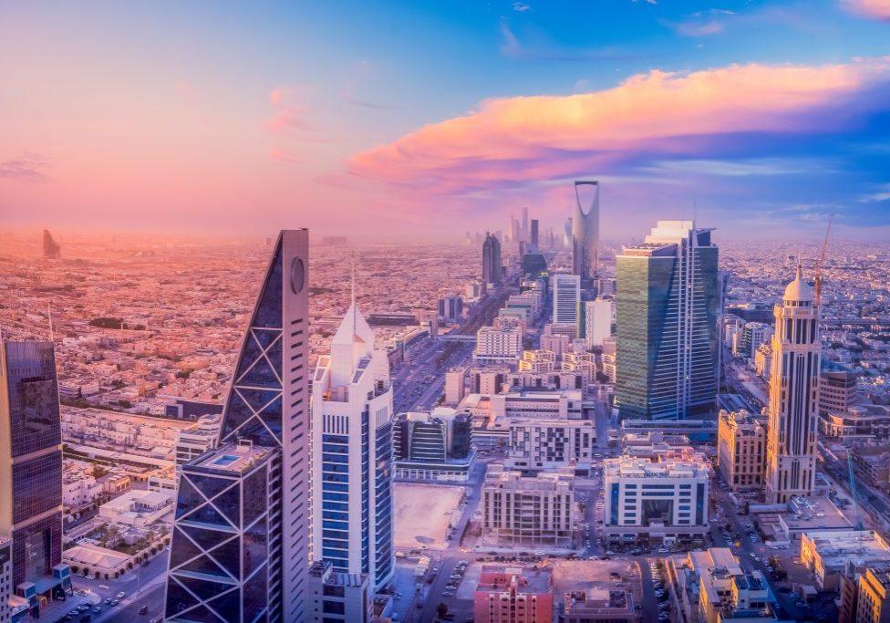 Kingdom of Saudi Arabia Landscapes by day - Riyadh Tower Kingdom Tower - Kingdom Tower - Riyadh Skyline - Riyadh during the day